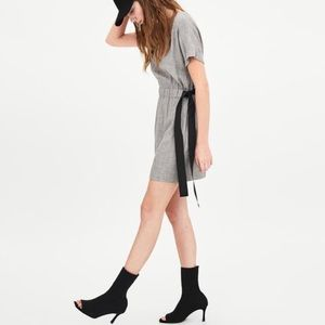 Zara Grey Dress with Bow/Ties